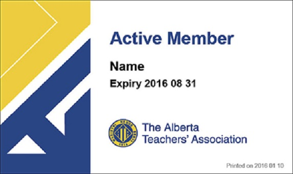 Print your ATA membership card before Teachers' Convention